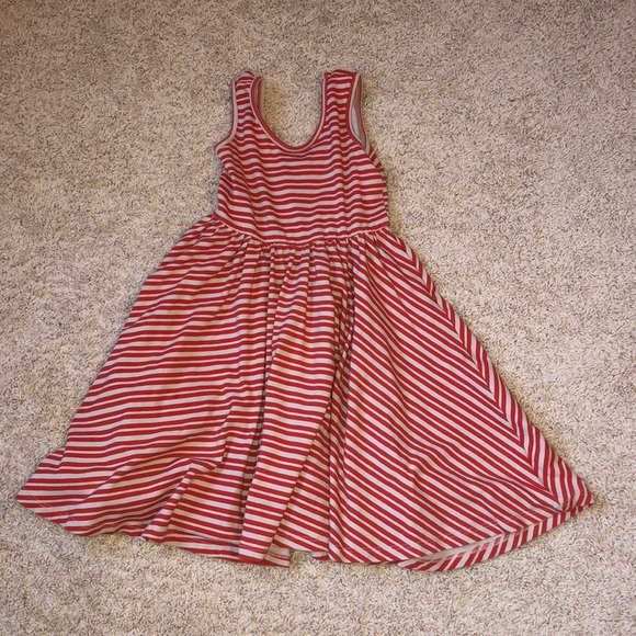 1251a86d78ee Dresses | Alice Ames Red And Tan Stripe Tank Spin Dress | Poshmark
